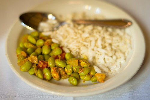 Spicy Soybeans and Puffed Rice