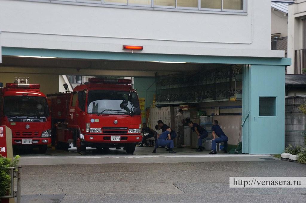 Пожарники в Японии