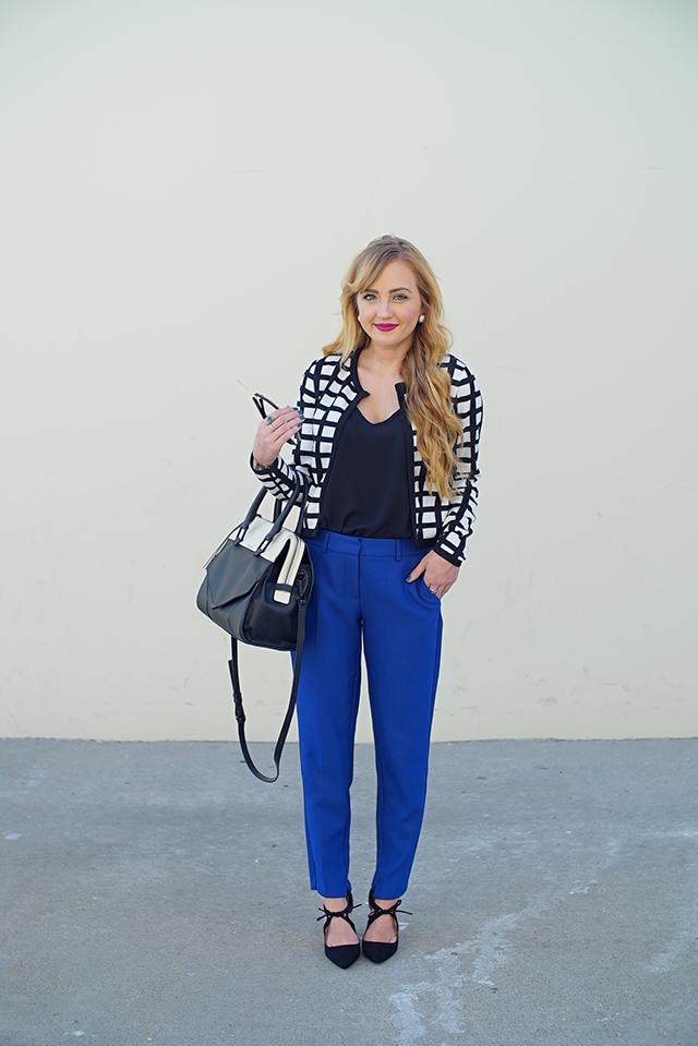 dorothy perkins cobalt trousers
