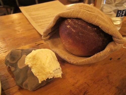 Bone marrow butter, homemade sourdough