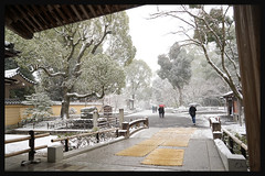 日本京都-金閣寺-雪.15