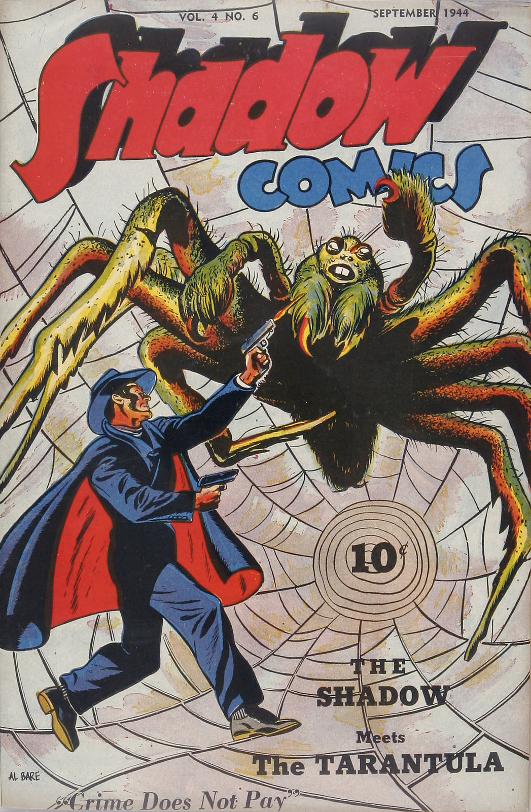 Shadow Comics V4#6 (Street & Smith, 1944) Al Bare Cover