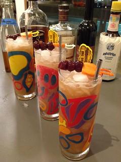 Three Dots and a Dash (Donn Beach): Clement VSOP, El Dorado 8, orange & lime, homemade falernum, allspice, honey, Angostura