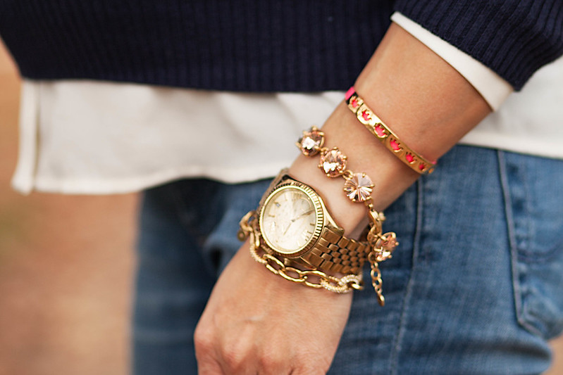 cute & little blog | petite fashion #maternity | stella & dot bracelets | #armparty
