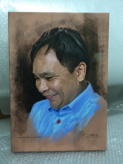 Digital portrait printed on stretched canvas