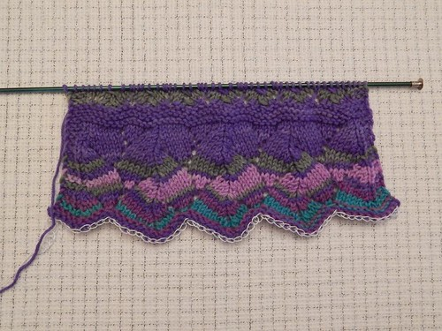 Advent scarf in progress