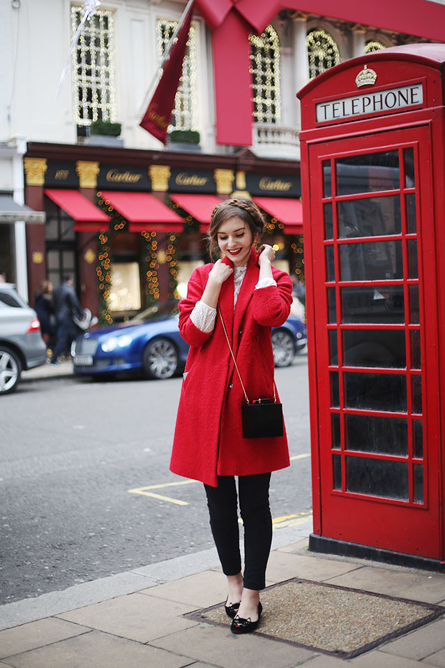 Red Warehouse Coat Charlotte Olympia Shoes What Olivia Did