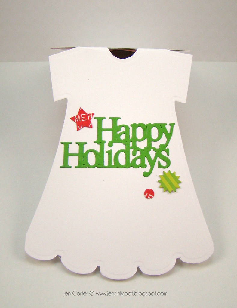 Jen Carter Christmas Apron Dress Card Inside WM