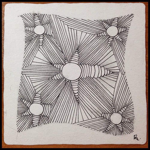 Zentangle 80, for The Diva's Weekly Challenge #197