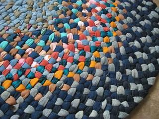 New Oval Blue Denim Rag Rug