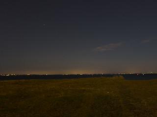 Image of Knähakenbadet - naturistbad. ocean sea beach night strand natt hav helsingborg öresund råå knähaken