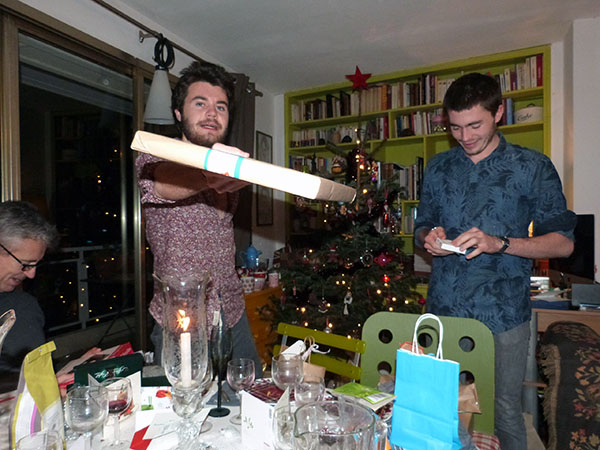 la distribution de cadeaux
