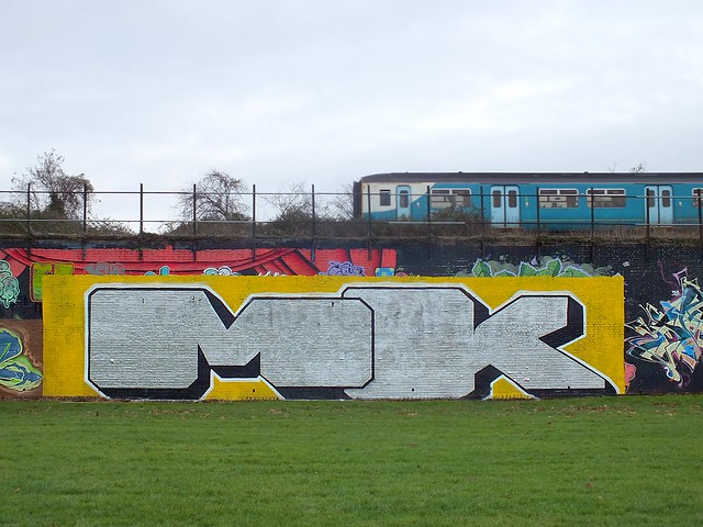 MK graffiti at Sevenoaks Park