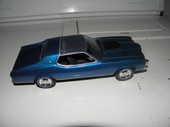 sports car(0.0), model car(1.0), automobile(1.0), automotive exterior(1.0), vehicle(1.0), stock car racing(1.0), scale model(1.0), land vehicle(1.0), muscle car(1.0), pontiac gto(1.0),
