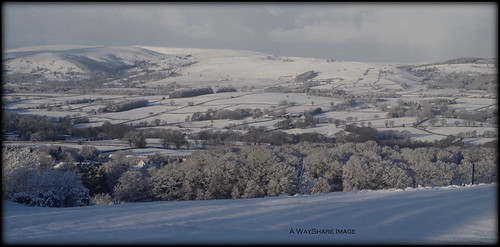 winter snow landscape countryside hills valley powys llandrindod