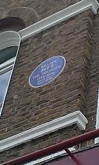 Photo of William Pitt blue plaque