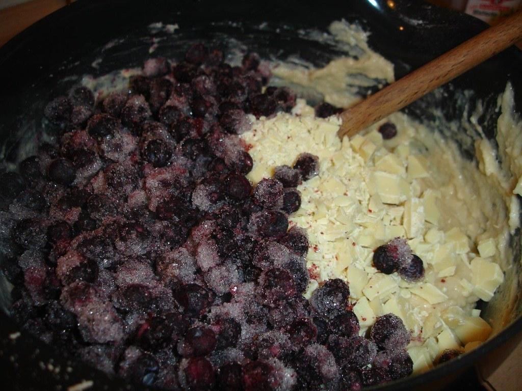 Blåbærmuffins med hvid chokolade (12)