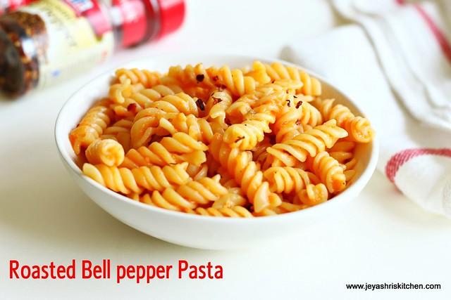 Roasted- bell pepper pasta
