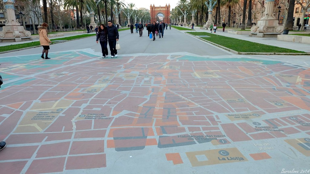 Barcelona day_3, Map of old Barcelona, Passeig de Lluís Companys