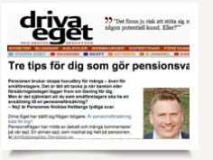 Tre tips för pensionsval