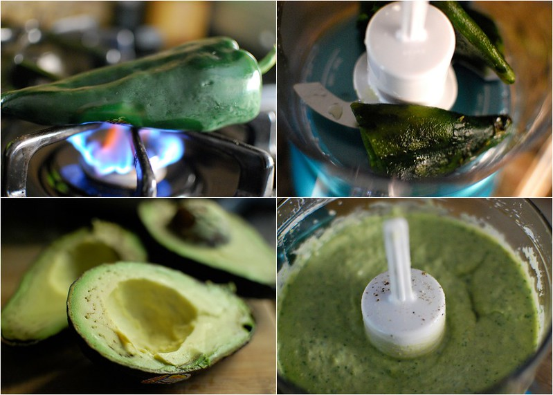Roasted Poblano Avocado Yogurt Dip