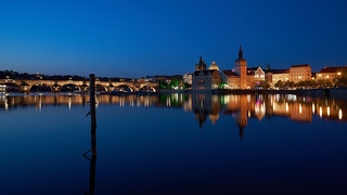Charles Bridge from Strelecky ostrov
