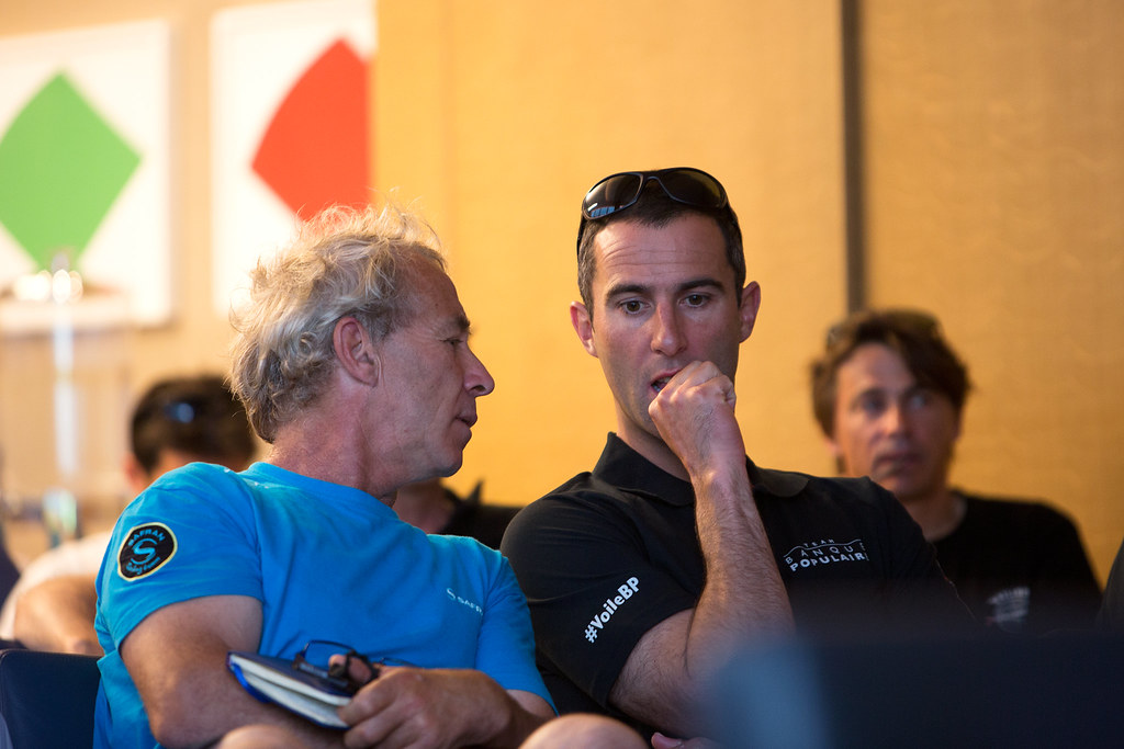 Armel Le Cléac'h - Briefing skippers - New York 2016_Copyright Easy Ride/BPCE