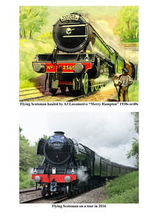 Flying Scotsman, then and now
