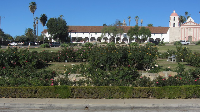 IMG_8623 Santa Barbara Mission Postel Rose Garden