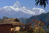 Silvester im Himalaya. Machapuchare und Annapurna 2. Foto: Archiv Härter.