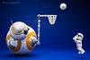 BB-8 : Shooting the ball into the basket.