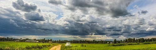 finland suomi kannus sky clouds blue
