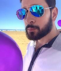 Purple Vain. #purple #beach #beard #reflection