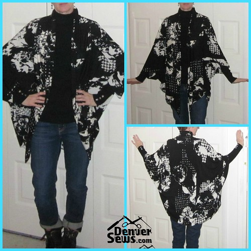 butterfly kimono sewn by Jilly from Denver Sews