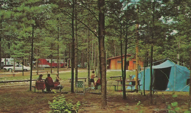 Vintage Camping Postcards A Gallery On Flickr