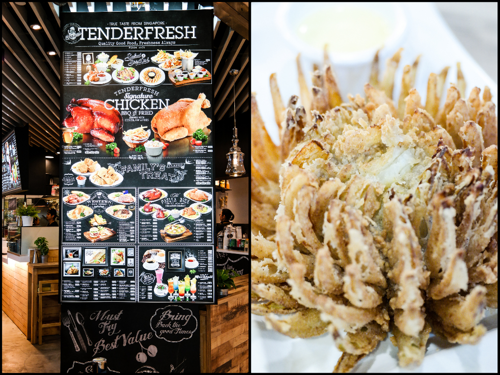 Tenderfresh Classic's Menu and Onion Blossoms with French Mustard Sauce