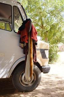 Anja's trusty Mercedes van @ bab sahara