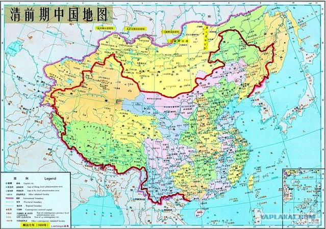 Map of Chinese territorial claims