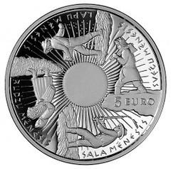 Latvia Four Seasons Five Euro Coin reverse
