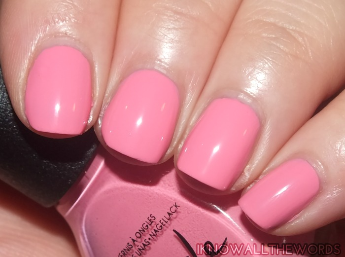 nicole by opi new shades- in sync with pink
