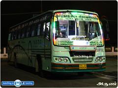 TN-01AN-0524 (CBE C 150) of Coimbatore Depot Route  662UD Coimbatore - Kuttam via Pollachi, Palani, Madurai, Tirunelveli, Thisayanvilai.