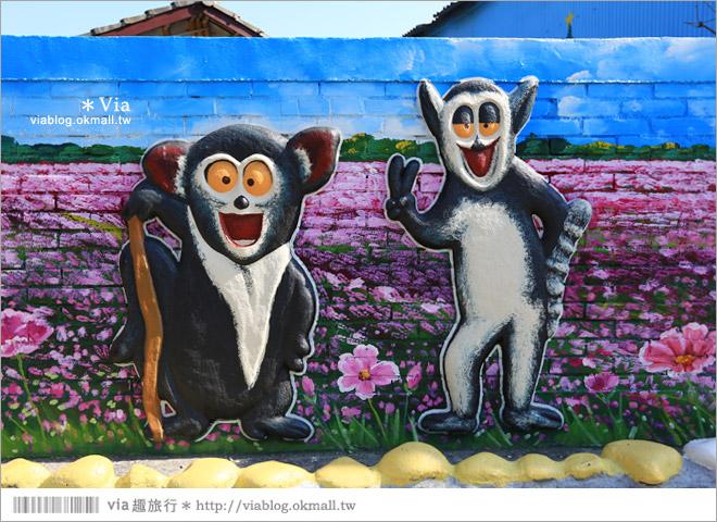 【南新彩繪村】彰化埔鹽/南新立體彩繪村~隱藏版的花海圍繞整村,美景如畫!16