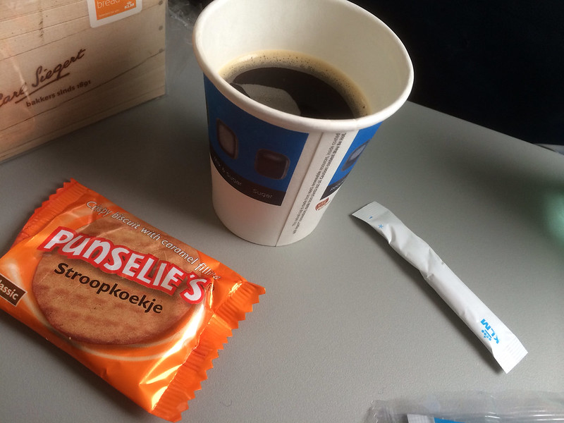KL1642便 食後のコーヒー