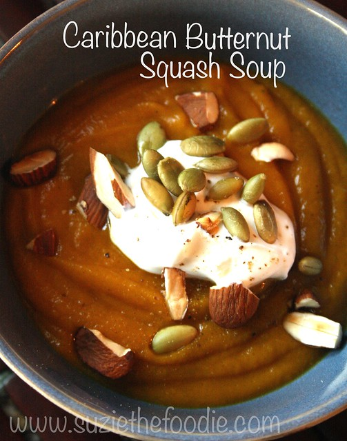 """""""Everything Nice"""" Caribbean Roasted Butternut Squash Soup"""
