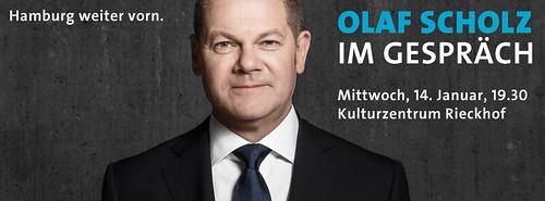 Olaf Scholz im Gespräch im Wahlkreis Harburg