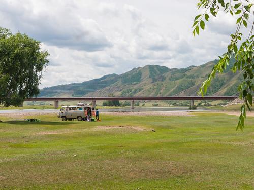 road bridge river mongolia mng bulgan furgon namnang selengeriver
