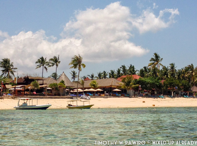 Indonesia - Bali - Nusa Lembongan Island - Lembongan Beach Club & Resort - View from the boat