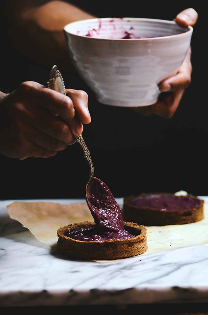 Cranberry Walnut Cream Whole Rye Tartlets | A Brown Table