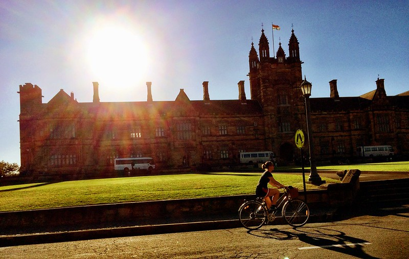 An afternoon on campus at The University of Sydney, Camperdown, Sydney, Australia