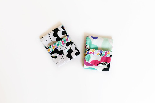 Geometric Bliss Fold Over Mini Pouches